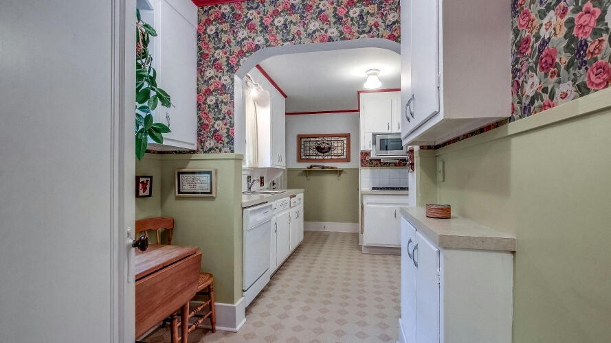 flowered kitchen